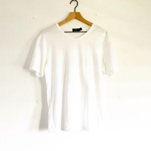 Hugo boss white v-neck shirt